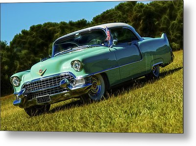 1955 Cadillac Coupe De Ville Metal Print by motography aka Phil Clark