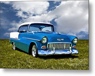 1955 Chevrolet Bel Air Metal Print