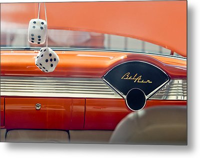 1955 Chevrolet Belair Dashboard Metal Print by Jill Reger