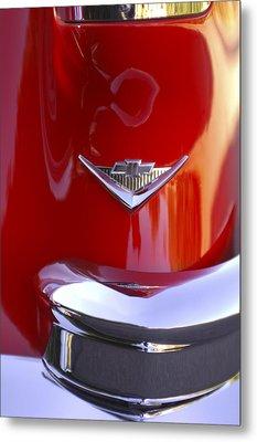 1955 Chevrolet Belair Nomad Emblem Metal Print by Jill Reger