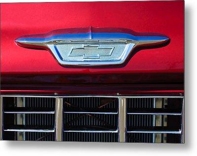 1955 Chevrolet Pickup Truck Grille Emblem Metal Print