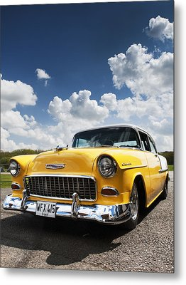 1955 Chevrolet Metal Print by Tim Gainey