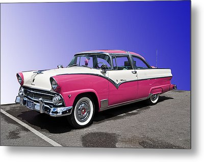 1955 Ford Crown Victoria Metal Print by Gianfranco Weiss