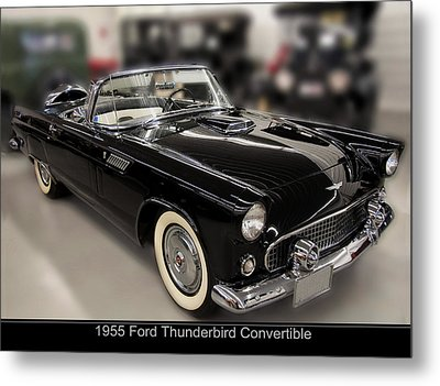 1955 Ford Thunderbird Convertible Metal Print