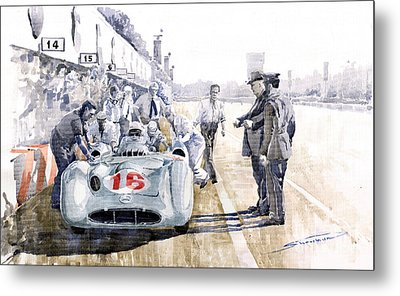 1955 Mercedes Benz W 196 Str Stirling Moss Italian Gp Monza Metal Print