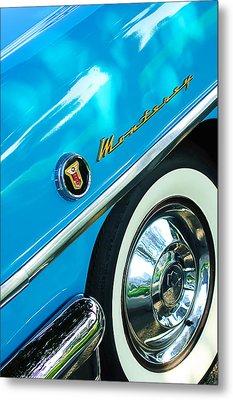 1955 Mercury Monterey Wheel Emblem Metal Print by Jill Reger