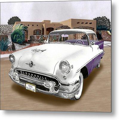 1955 Oldsmobile Super 88 Metal Print by Jack Pumphrey