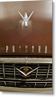 1955 Packard 400 Hood Ornament Metal Print by Jill Reger