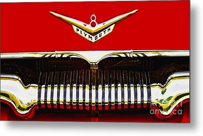 Metal Print featuring the photograph 1955 Plymouth P27 Convertible by Trey Foerster