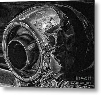 1955 T-bird Exhaust Chrome Metal Print by JRP Photography