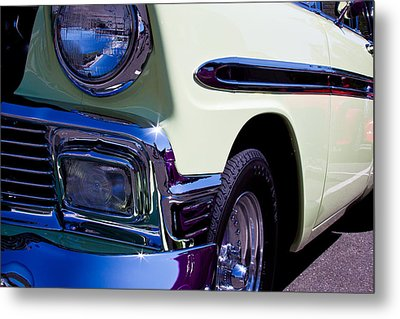 1956 Chevy Bel Air Custom Hot Rod Metal Print by David Patterson