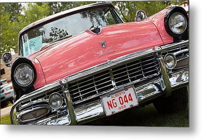 Metal Print featuring the photograph 1956 Classic Car by Mick Flynn