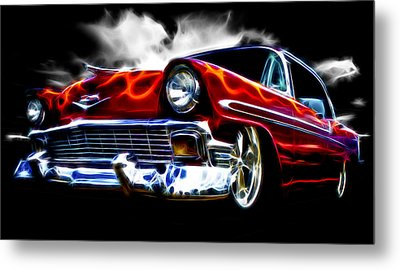 1956 Flamin Chevrolet Metal Print by Phil 'motography' Clark