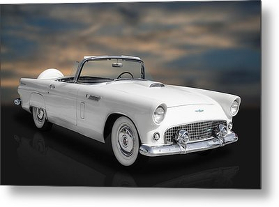 1956 Ford Thunderbird Metal Print by Frank J Benz