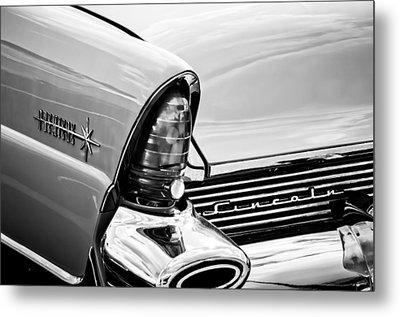 1956 Lincoln Premiere Taillight Emblem -0887bw Metal Print by Jill Reger