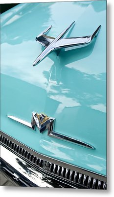 1956 Mercury Monterey Hood Ornament Metal Print