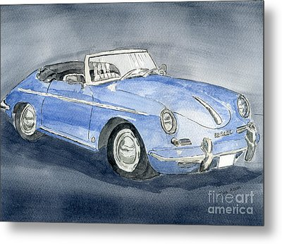 Metal Print featuring the painting 1956 Porche 356b Roadster by Eva Ason