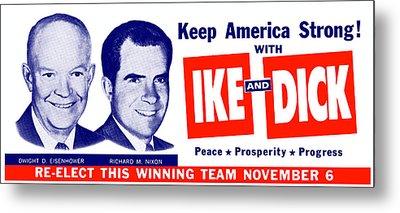 1956 Vote Ike And Dick Metal Print