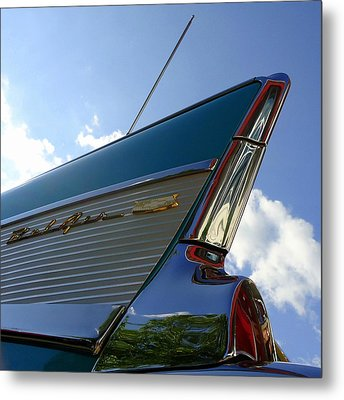 1957 Chevrolet Bel Air Fin Metal Print by Joseph Skompski