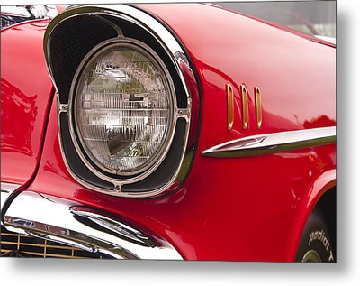 1957 Chevrolet Bel Air Headlight Metal Print
