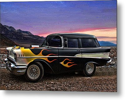 Metal Print featuring the photograph 1957 Chevrolet Shorty Wagon by Tim McCullough