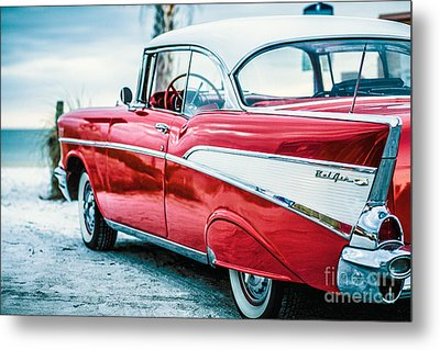 1957 Chevy Bel Air Metal Print by Edward Fielding