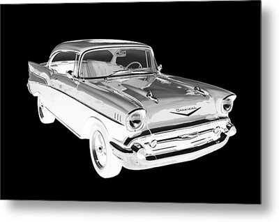 1957 Chevy Belair Car Art Metal Print by Keith Webber Jr