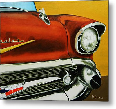 1957 Chevy - Coppertone Metal Print