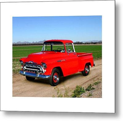 1957 Chevrolet 3100 Pick Up Truck Metal Print by Jack Pumphrey