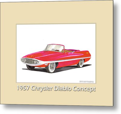 1957 Chrysler Diablo Convertible Coupe Metal Print by Jack Pumphrey