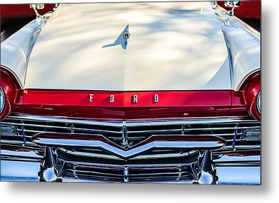 1957 Ford Custom 300 Series Ranchero Grille Emblem Metal Print