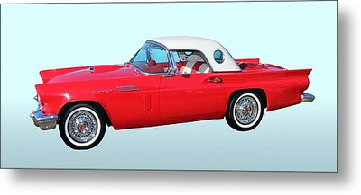 Classic Car Metal Print featuring the photograph 1957 Ford Thunderbird  by Aaron Berg