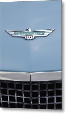 1957 Ford Thunderbird Hood Ornament 2 Metal Print by Jill Reger
