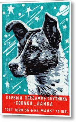 1957 Laika The Space Dog Metal Print