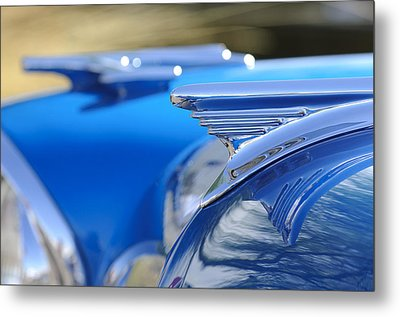 1957 Oldsmobile Hood Ornament 3 Metal Print