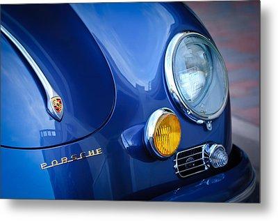 1957 Porsche Hood Emblem -0621c Metal Print