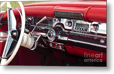 1958 Buick Special Dashboard Metal Print by Tim Gainey