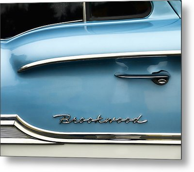 1958 Chevrolet Brookwood Station Wagon Metal Print by Carol Leigh