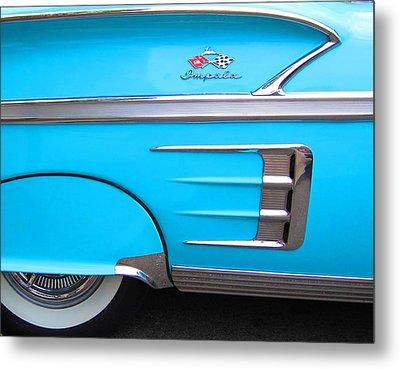 1958 Chevrolet Impala Metal Print by Sven Migot
