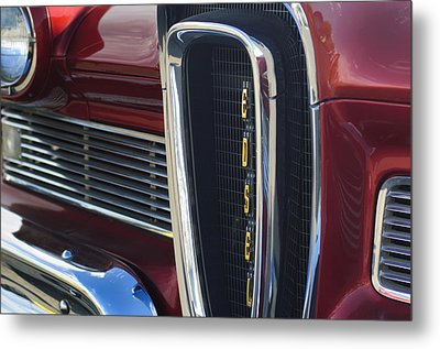 1958 Edsel Pacer Grille 2 Metal Print by Jill Reger