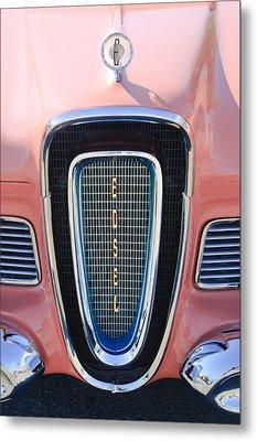 1958 Edsel Pacer Grille Emblem Metal Print by Jill Reger