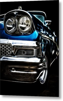 1958 Ford Fairlane Metal Print by motography aka Phil Clark