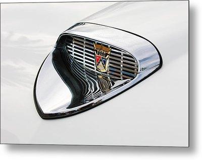 1958 Ford Hood Emblem Metal Print by Jill Reger