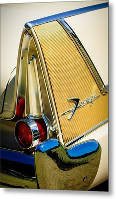 1958 Plymouth Fury Golden Commando Taillight Emblem -3467c Metal Print