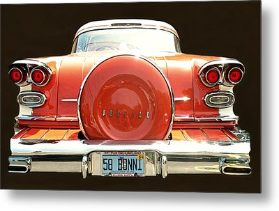1958 Pontiac Bonneville Metal Print by Diana Angstadt