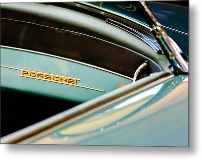 1958 Porsche 356 A Speedster Dash Emblem Metal Print by Jill Reger