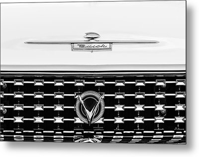 1959 Buick Lesabre Convertible Grille Emblems Metal Print by Jill Reger