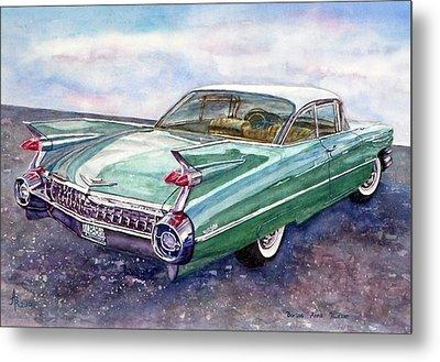 1959 Cadillac Cruising Metal Print by Anna Ruzsan