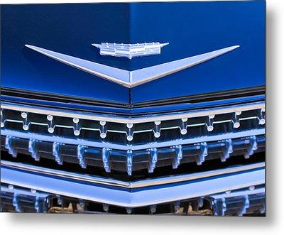 1959 Cadillac Eldorado Hood Ornament Metal Print by Jill Reger