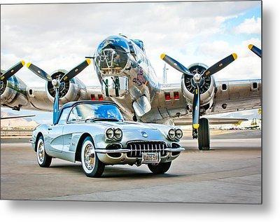 1959 Chevrolet Corvette Metal Print by Jill Reger